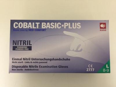 Nitrilové rukavice bez pudru Cobalt basic L, 200ks