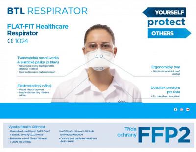 BTL respirátor FFP2 - balení 25ks.